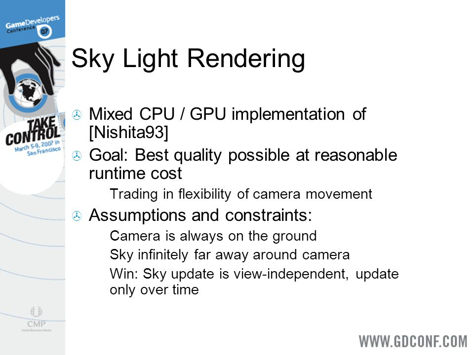 Sky Light Rendering Mixed CPU / GPU implementation of [Nishita93]